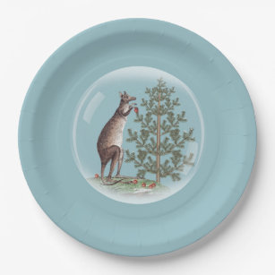 Christmas in Australia Paper Plate & Christmas Australia Plates | Zazzle