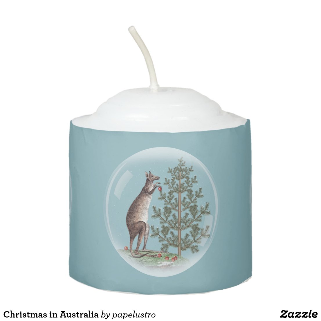 Christmas in Australia Votive Candle