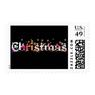 Christmas In Black Postage Stamp