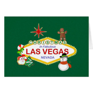 Christmas In Fabulous Las Vegas Card
