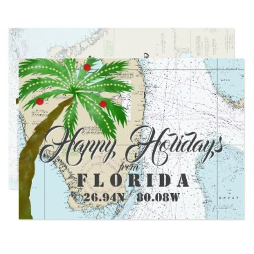 Christmas in Florida Tropical Holidays Card