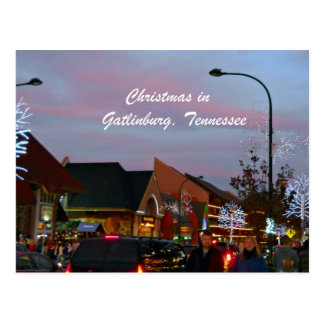 Christmas in Gatlinburg, Tennessee Postcard
