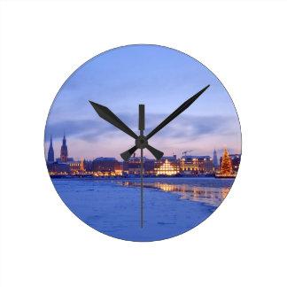 Christmas in Hamburg Wall Clocks