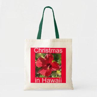 Christmas in  Hawaii Budget Tote Bag