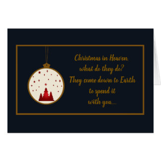 Christmas in Heaven Memorial,Remembrance Card