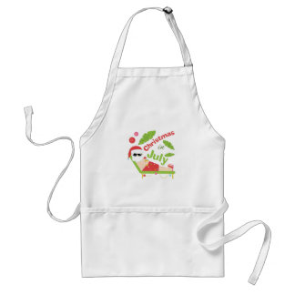Christmas In July Adult Apron