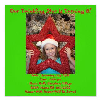 Christmas In July Birthday Theme Custom Invitation