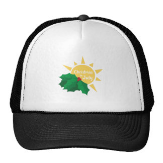Christmas In July Mesh Hat