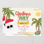 """Christmas in July invitation, fun summer party Invitation<br><div class=""""desc"""">Make your Christmas in July party go off with a Jolly good blast of fun! Whether this is for a birthday or just an excuse to hold a summer party with all the tacky Christmas glitz and glam this invite is sure to impress your guests with our high-quality elements leaving...</div>"""