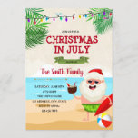 """Christmas in July party invitation<br><div class=""""desc"""">Christmas in July party invitation</div>"""