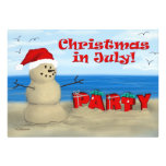 Christmas in July Party invitations
