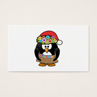 Christmas in July Penguin Business Card