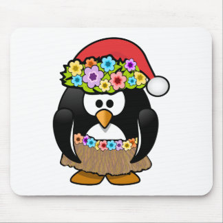 Christmas in July Penguin Mouse Pad