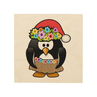 Christmas in July Penguin Wood Canvases