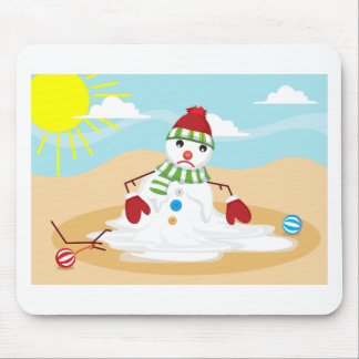 christmas in july snowman mouse pad