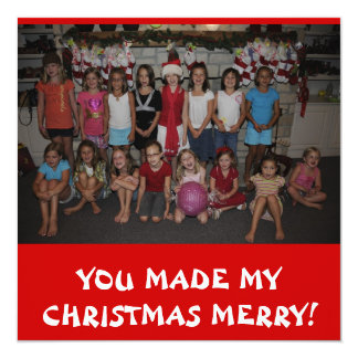 Christmas In July Thank you card! Announcement