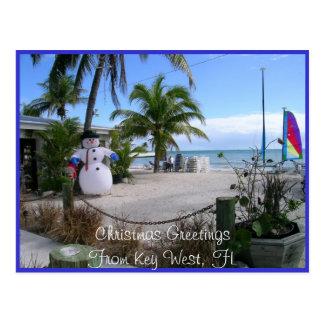 Christmas in Key West, FL Postcard
