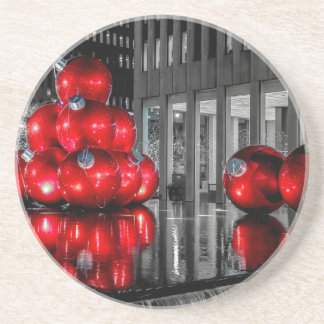 Christmas in New York City Photo Drink Coaster