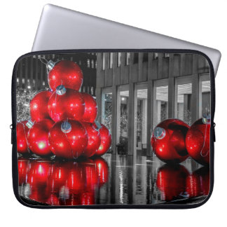 Christmas in New York City Photo Laptop Computer Sleeve