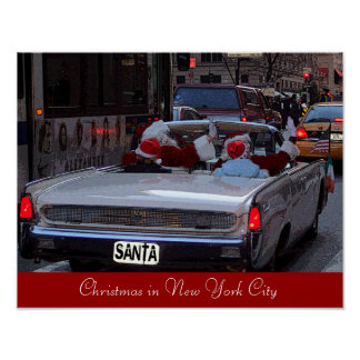 Christmas in New York City Poster