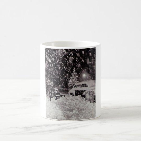 Christmas in New York City Vintage 1950s Coffee Mug