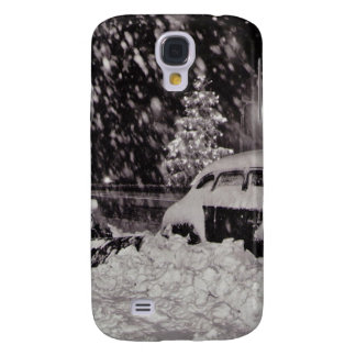 Christmas in New York City Vintage 1950s Galaxy S4 Cover