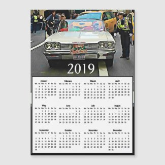 Christmas in NYC 2019 Calendar Photo Magnet