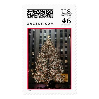 Christmas in NYC - Rockefeller Center Tree stamp