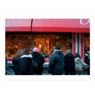 Christmas in NYC window display Postcard