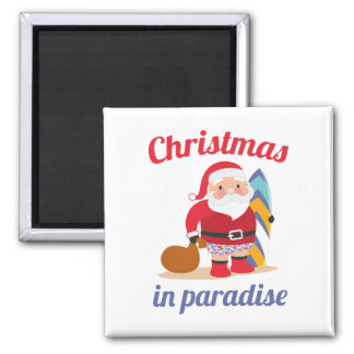 Christmas In Paradise Magnet