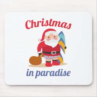 Christmas In Paradise Mouse Pad