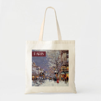 Christmas in Paris. Christmas Gift  Bag