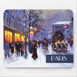 Christmas in Paris. Christmas Gift Mousepad