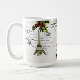 Christmas in Paris Eiffel Tower coffee mug