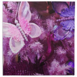 Christmas In Pink And Purple Cloth Napkin