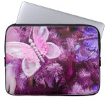 Christmas In Pink And Purple Laptop Computer Sleeve