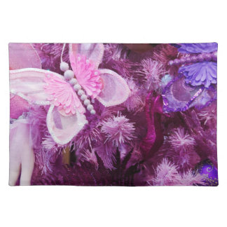 Christmas In Pink And Purple Place Mat