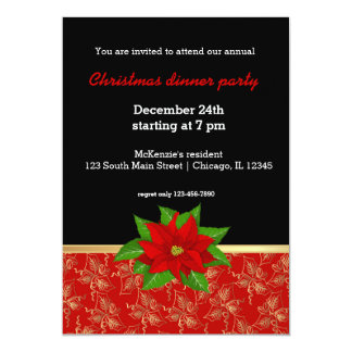 Christmas in red & gold card