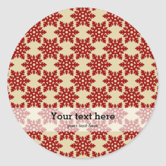Christmas in red & gold classic round sticker