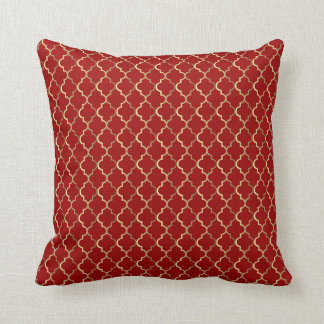 Christmas in red & gold throw pillow