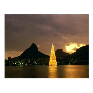 Christmas In Rio De Janeiro Brazil Postcard