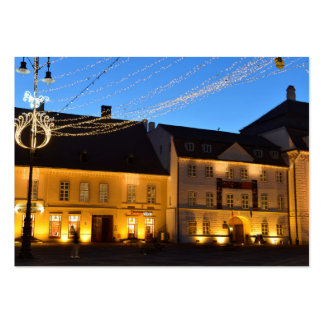 Christmas in Sibiu, Romania Large Business Card