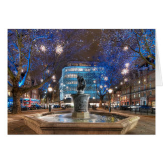 Christmas in Sloane Square, London Greeting Cards