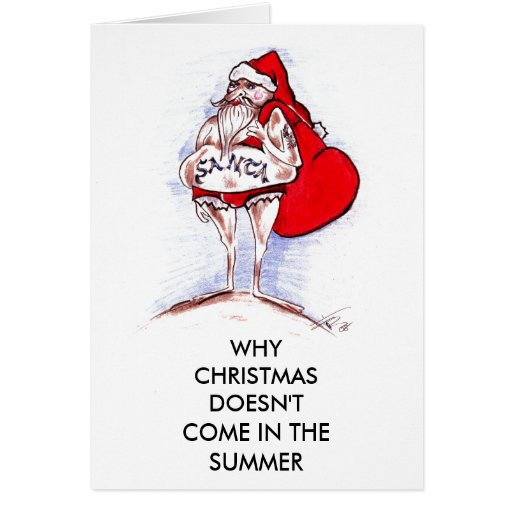 CHRISTMAS IN SUMMER CARD