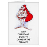 CHRISTMAS IN SUMMER GREETING CARD