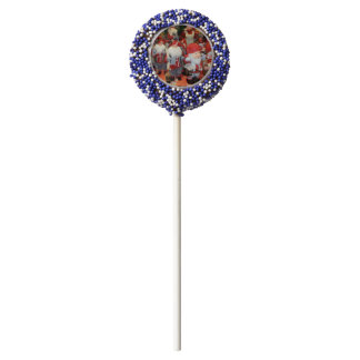 Christmas in Sweden Chocolate Dipped Oreo Pop