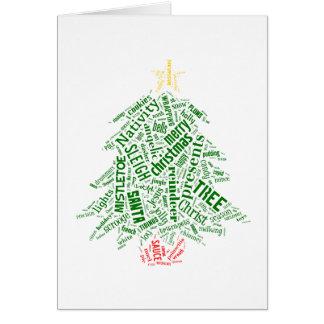 Christmas in Tagxedo Card