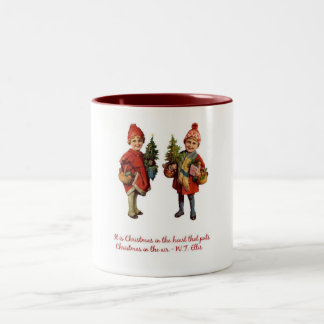 Christmas in the Air Two-Tone Coffee Mug