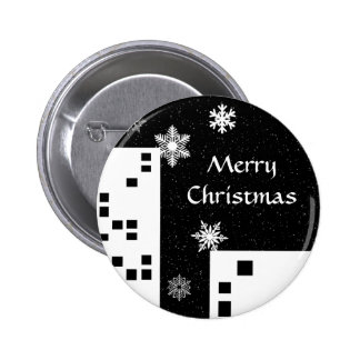 Christmas in the city cute Merry Christmas button