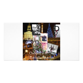 Christmas in the City Knoxville, Tennessee Personalized Photo Card